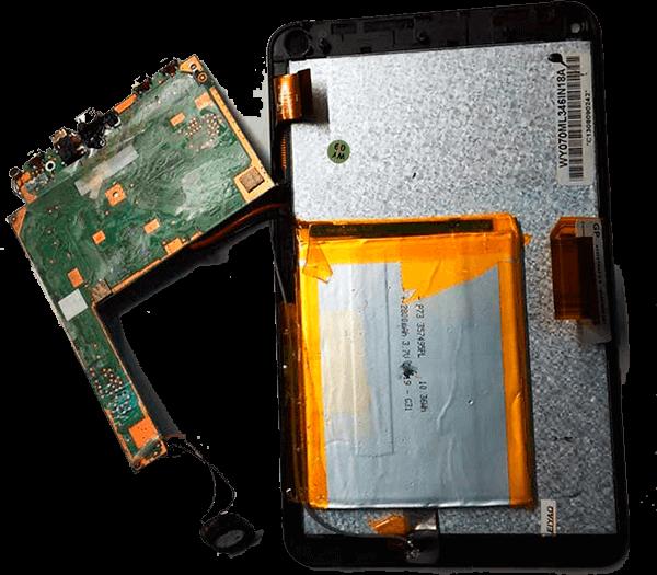 Замена батареи планшета Huawei