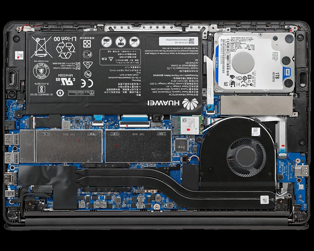 Чистка системы охлаждения ноутбуков Huawei