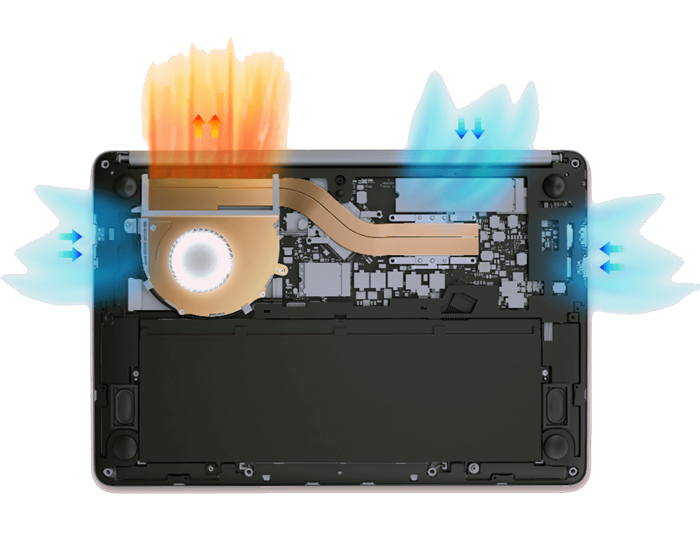 Ремонт системы охлаждения ноутбуков Huawei